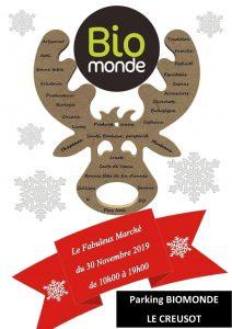 Marché de Noël à Biomonde Le Creusot, le samedi 30 novembre 2019