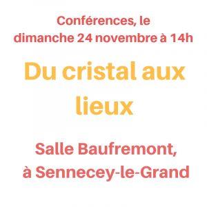 conférence à Sennecey-le-Grand, le dimanche 24 novembre 2019 à 14h