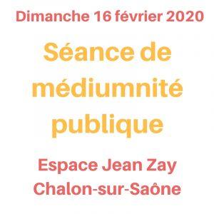 Séance de médiumnité publique le 16 février 2020
