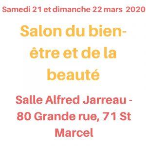 salon du bien-être et de la beauté de St Marcel les 21 et 22 mars 2020