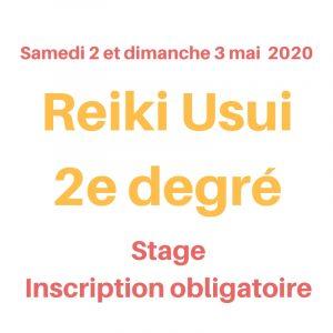 Stage de Reiki Usui 2e degré au Creusot