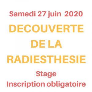 journée découverte de la radiesthésie le samedi 27 juin 2020