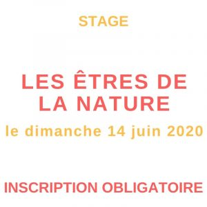 stage sur les êtres de la nature le dimanche 14 juin 2020