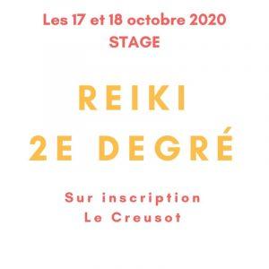 Stage de 2e degré de Reiki les 17 et 18 octobre 2020