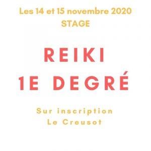 Stage de 1er degré Reiki les 14 et 15 novembre 2020